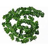 LJY - 16guirnaldas de hojas de hiedra artificiales, para decoración