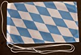 Bayern nur Raute 15x25 cm Tischflagge in Profi - Qualität Tischfahne Autoflagge Bootsflagge Motorradflagge Mopedflagge