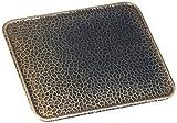 Kamino - Flam – Placa protectora contra chispas, Antichispas de suelo para chimenea, Salvachispas para estufa – resistente a altas temperaturas – Latón viejo, 80 x 60 cm