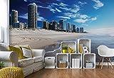 Wallsticker Warehouse Surfers Paradise Australien Strand Stadt Vlies Fototapete Fotomural - Wandbild - Tapete - 368cm x 254cm / 4 Teilig - Gedrückt auf 130gsm Vlies - 1312V8 - Städte