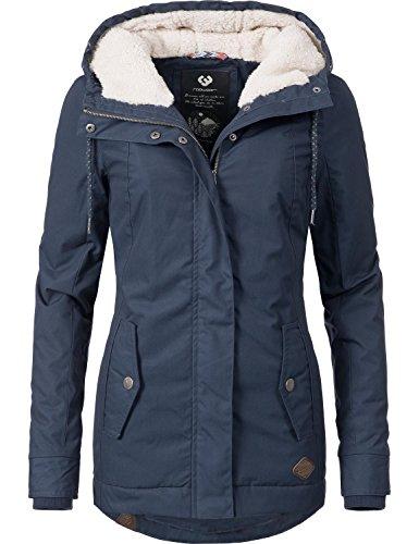 Ragwear Damen Jacke Winterjacke YM-Monade (vegan hergestellt) Dunkelblau Gr. M