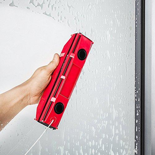 Lava cristal magnético - Lavar sin esfuerzos los dos lados de todas las ventanas - imanes de tierra puissants - Goma Natural inusable - Cordón de seguridad
