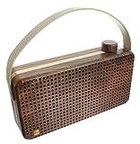 Kitsound Soul Wooden Altoparlante Universale Bluetooth con Jack da 3,5 mm, Marrone