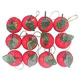 Drawihi 12 piezas Adornos para la copa del árbol Decoración de Navidad regalo de manzana roja