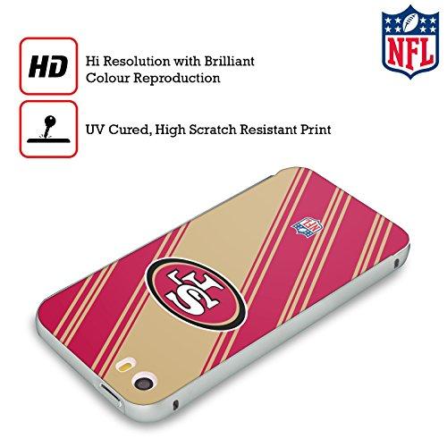 Ufficiale NFL Righe 2017/18 San Francisco 49Ers Argento Cover Contorno con Bumper in Alluminio per Apple iPhone 6 Plus / 6s Plus Righe