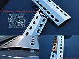 Flammenverteiler Edelstahl-Manufaktur Ersatz-Set: (395mm x 150mm - 3 Stück)/Flammenblech/Grillblech/Brennerabdeckung/Flammenabdeckung für Gasgrills