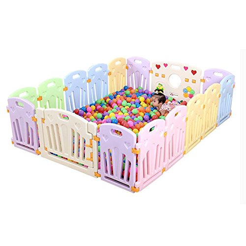 Bed Rails XIAOLIN Children's Play Fence Learning To Walk Fence Safety Crawling Fence Indoor Amusement Park (Size : 22+2)  XIAOLIN