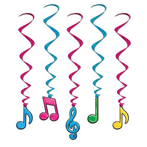Beistle 57623-N 5er Pack Neon Musik Noten Whirls (Noten Neon Musik)