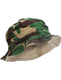 Herren Wende Sommer Hut mit Camouflage Muster