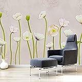 YUANLINGWEI Benutzerdefinierte Größe 3D Malerei Seidenstoff Blume Landschaft Mural Für Wohnzimmer Floral Kinderzimmer Tapete,100cm (H) X 200cm (W)