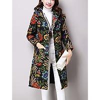 Donna informale/Daily etnico Moda Stampa Stampa cappotto