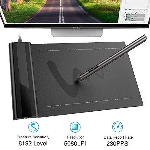 EJOYDUTY 4 x 6 Digital Tablet, Elektronisches handbemaltes Brett, Zeichenbrett, mit batterielosem Stylus, Kompatibel mit Windows, Mac, Drawing Software (Software Signieren Digitales Von)