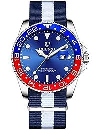 8576bed4d0c Mens Watches for Men Analogue Quartz Watch Fashion Casual Business Calendar  Luminous…