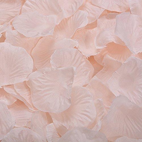 1000pcs réaliste artificielle Non tissé pétales Rose décorations pour la fête de mariage