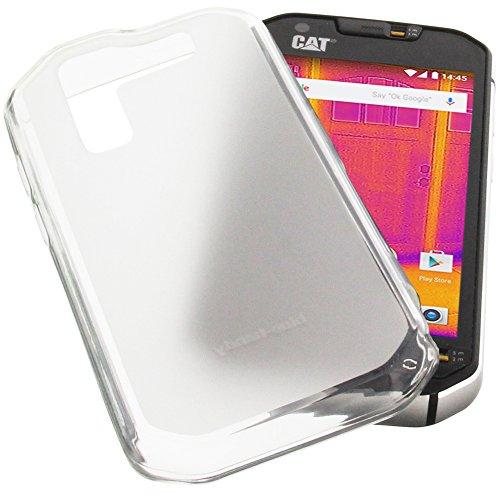 Custodia per cellulari CAT S60 in gomma TPU di colore bianco semitrasparente