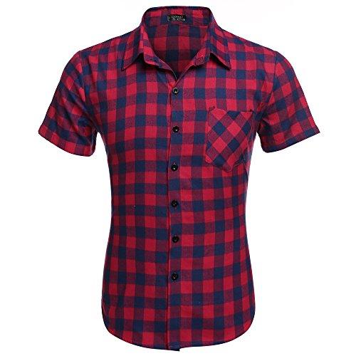 Coofandy - Camiseta de Manga Corta para Hombre