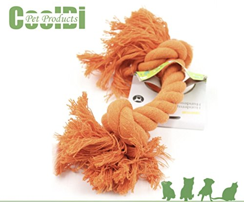 Pentaton Baumwollspielzeug Wurfspielzeug Baumwollknochen Spieltau für Hunde Hundespielzeug Spielseil aus Baumwolle geflochten zur Zahnreinigung