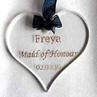 Personalised Maid Of Honour Coat Hanger Tag Wedding Day