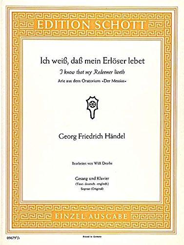 Der Messias - Soprano Voice and Piano - Book