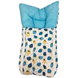 GoodLuck Baybee - Baby Cotton Printed Carry Bed For New Born Baby | Sleeping Bed Cum Bedding Set | Baby Mattress Carry Bag For New Born Babies| (0-6 Months) (Blue)