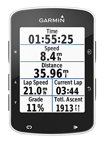 Garmin Edge 520 GPS Bike Computer with Premium Heart Rate Monitor – Black