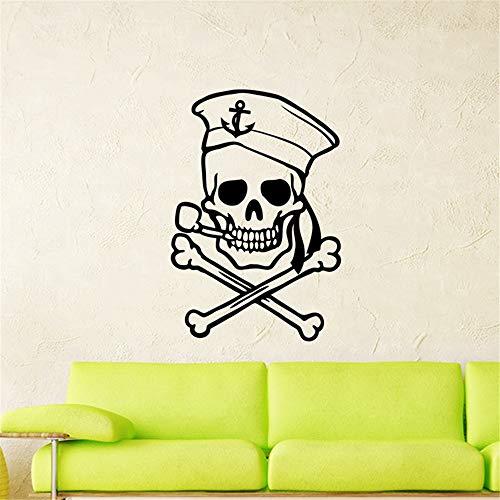 Wandtattoo Schlafzimmer Skull Halloween Sailor Sticker Punk Death Decal Devil Poster Name Car décor for boys bedroom