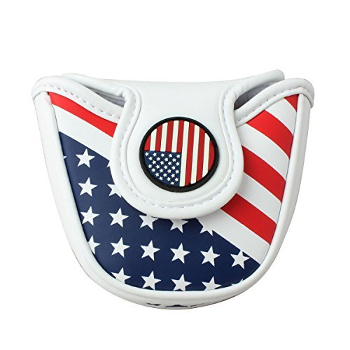 Craftsman Golf USA AMERICA MALLET Putter Cover Headcover For Scotty Cameron Odyssey by Craftsman Golf