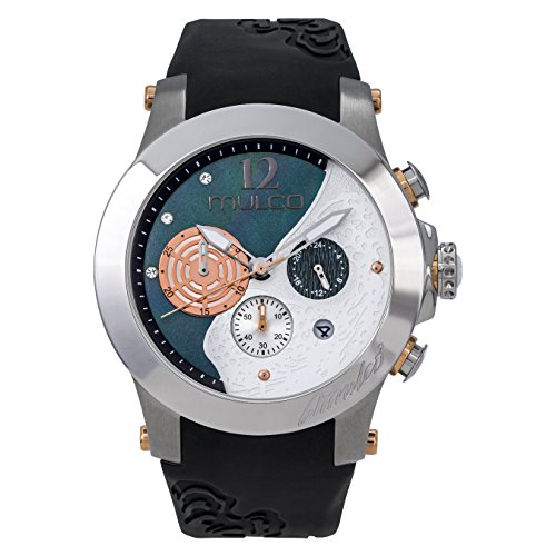 Mulco MW3–16061–021windrock negro correa de silicona reloj de la mujer