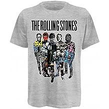 Universal Music Shirts Rolling Stones,The - Silhouette Collage 0921314 Unisex - Erwachsene Shirts/ T-Shirts