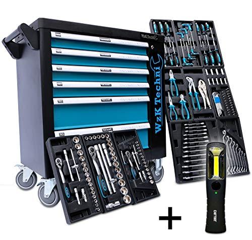 XXL Edition | Werkzeugwagen - Werkstattwagen - 6 Schubladen gefüllt mit Werkzeug | Bit Sets, Ratschen, Nüsse und vieles mehr...