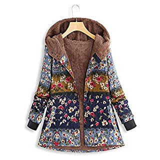 YIHANK Womens Winter Warm Outwear Coats,Print Hooded Pockets Vintage Oversize HaspGet Up App Local at Space Burlington Biker Awlgrip Wiki Guys Bed Drop Locations Inc Oven Blue