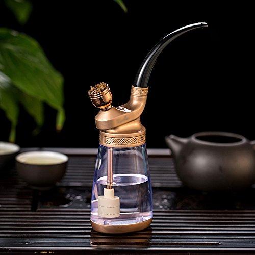 ZXT GJY Shisha - Ganze Reihe von Glas Wasserpfeife - Reine Kupfer Vintage Shisha - Rauch Topf Shisha - Filter Zigarettenspitze,A,Huka