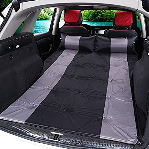 Choque de coche cama de viaje de coche cama colchón inflable automático de coches al aire libre del cojín que acampa Off - Vehículo de dormir cojín de cama ( Color : Negro