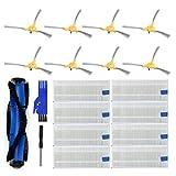 Gaddrt 19 Pezzi/Set Spazzola Laterale Spazzola a Rullo Spazzola Di Ricambio Parte Di Ricambio Per Eufy Robovac 11S 11puls Sweeper