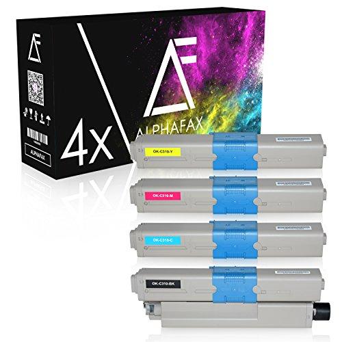 Oki Color Drucker (4 Toner kompatibel zu OKI C310dn, C330DN, C331DN, C510DN, C511DN, C530DN, MC351DN, MC361DN, MC561DN, MC562DN - Schwarz 3.500 Seiten, Color je 2.000 Seiten)