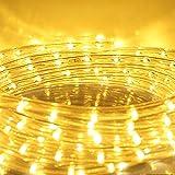 HG® 10m LED Lichtschlauch Lichterkette Lichterschlauch Dekolicht Fensterbeleuchtung für Außen&Innen Weihnachten Dekoration Hochzeit mit controller Warmweiß