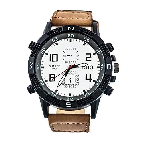 Souarts Herren Armbanduhr Einfach Stil Sport Analoge Quarz Uhr Blau 24cm
