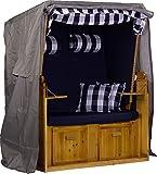 *NEW* Strandkorb Schutzhülle Haube Abdeckplane für Zweisitzer/Viele Größen Lieferbar (Polyester Anthrazit, 120x150x85cm)
