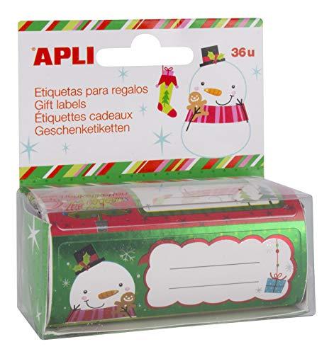 Apli Navidad - Rollo de etiquetas para regalo