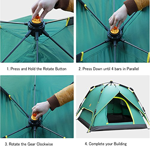 HXSS-Waterproof-Pop-Up-Automatic-Comfortable-Camping-Tent-for-3-or-4-Person-with-Storage-Bag-Blue