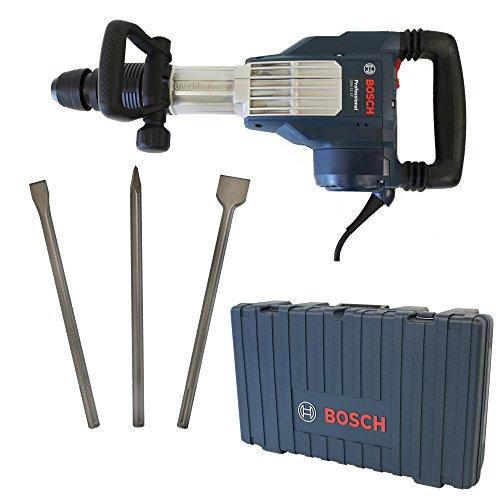 Bosch Schlaghammer SDS-Max GSH 11 VC Professional 1700W 23 Joule + Bosch SDS-MAX Meisselset 3-tlg. Spitzmeißel 400mm, Flachmeißel 25x400mm und Spatmeißel 50x400mm