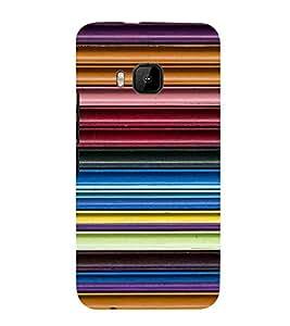 For HTC One M9 :: HTC One M9S :: HTC M9 :: HTC One Hima stripes pattern ( stripes pattern, nice pattern, pattern, stripes, gradient ) Printed Designer Back Case Cover By FashionCops