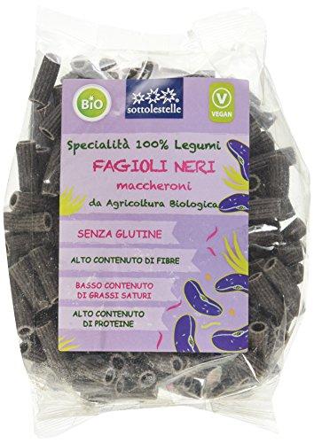 Sottolestelle Maccheroni 100% Fagioli Neri - 6 pezzi da 250 g [1500 g]