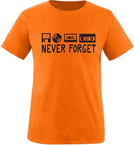 EZYshirt® Ich Irre ? Vielleicht sollte ich mal von meinem Einhorn steigen und dir eine knallen Crew-Neck T-Shirt Orange/Schwarz