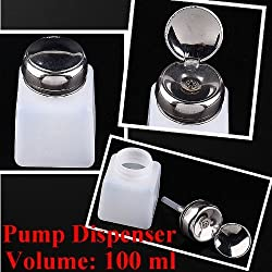 2pc 100ML Pump Dispenser Bottle Nail Art Makeup Tool J0212-1