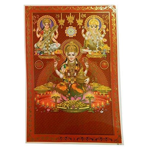 poster-lakshmi-ganesha-sarasvati-33x48cm-3-divinta-hindu-icone-indiane-importato-direttamente-dallin