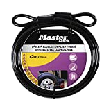 Master Lock 49EURD Cable con Hebillas, Negro, 3 m x 10 mm