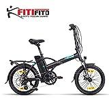 Fitifito New York 20 Zoll Elektrofahrrad Faltrad Klapprad E-Bike Pedelec, 36V 250W Heckmotor, 36V 15.6Ah 561W Samsung Cells Lithium-Ionen USB, 6061 Aluminium Rahmen