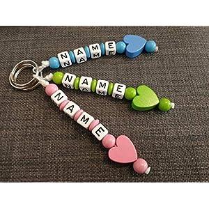 Schlüsselanhänger mit Namen & Herz -handmade - Kinder - Erwachsene - GRATIS Versand - Namensanhänger