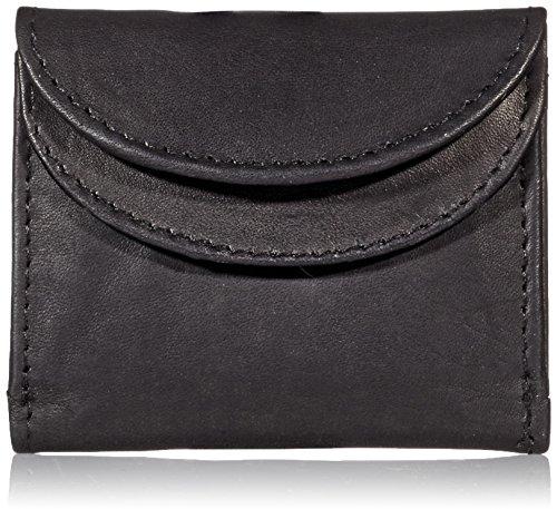 LisaModa® Mini Geldbörse Leder schwarz